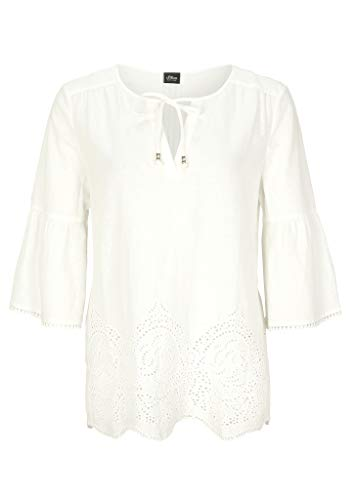 s.Oliver BLACK LABEL Damen 150.10.005.10.101.2038554 Tunika-Shirt, Cream, 44
