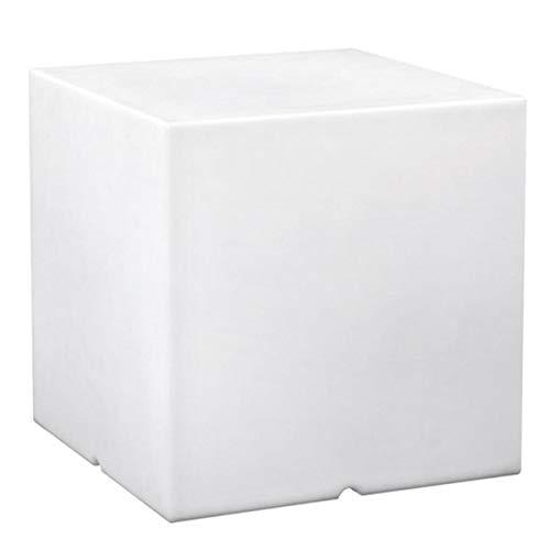 Lumisky 303114 - Cubo Luminoso Contemporaneo con Lampadina a Risparmio energetico E27 fornita, in polietilene Spesso, 40 x 40 x 40 cm, Colore: Bianco