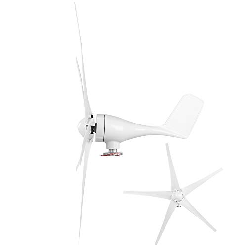 Redxiao Equipo de turbinas eólicas de Fuente de alimentación, generador 5 Palas duraderas para Barcos móviles(48V)
