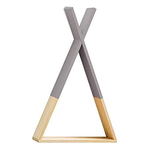 Nordic Style Regal Wand Grau. Dreieckiges Regal aus Holz. Kinderzimmer, Wohnzimmer und Baby-Regale. Dreieckiges Holzregal zur Aufbewahrung. Medium Größe