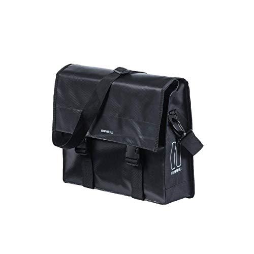 Basil Unisex– Erwachsene Urban Load Messenger Fahrradtasche, Black/Black, 38 cm x 11 cm x 43 cm