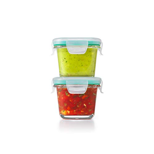 OXO Good Grips Smart Seal Container , Pack of 2  Square Glass Set