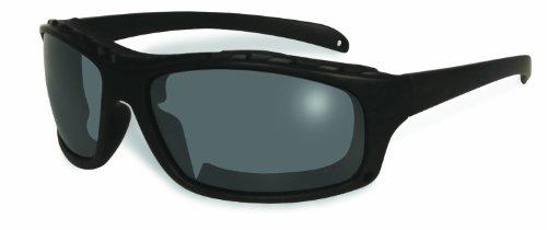 BluWater Schwimmende Sonnenbrille, polarisiert, mit Neopren-Schaumstoff, rauchfarbene Gläser, mattschwarzer Rahmen