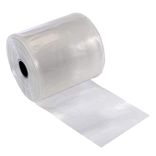 Resilia Lay Flat Poly Tubing - True Seamless, Clear Food Grade Polyethylene, Custom Poly Bag Packaging Solution - 2 Inches x 1,500 Feet, 2 Mil Thickness