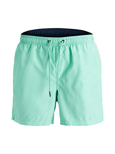 JACK & JONES Herren Badeshorts Swim Shorts Bademode Surf Shorts Board Shorts (M, Mint grün - blau)