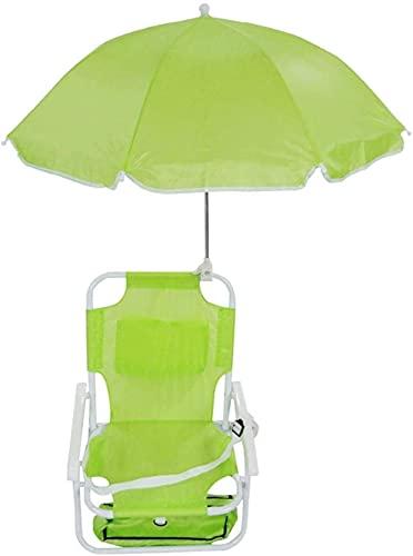 Silla reclinable plegable infantil con sombrilla removible Sombrilla de playa Sombrilla fina...