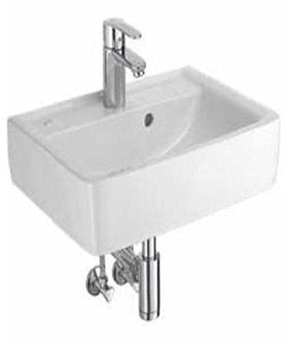 Keramag Renova Plan Design Handwaschbecken 50 cm mit Grohe Einhandmischer Komplett-Set C05150 000, C05150000