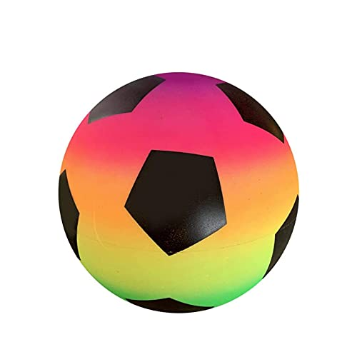 Pelota De Playa Inflable - Arco Iris De PVC De Fútbol - Pelota De Juguete Con Arcoíris De 8.5 Pulgadas - Pelota Hinchable Deportiva - Juguetes Para Fiestas En La Piscina, Para El Patio Trasero