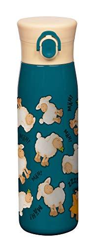 SIGIKID Mädchen und Jungen, hitzebeständige Trinkflasche, Edelstahl-Isolierflasche Schafe 420ml für Kindergarten, Schule & Ausflüge, BPA-frei, empfohlen ab 36 Monaten, blau, 25096