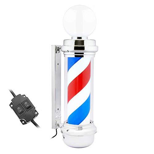 PrimeMatik - Poste de barbero Luminoso y Giratorio con lámpara Superior para peluquerías de 230 x 845 mm