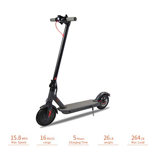 "Emaxusa Electric Scooter for Adults,US Federal Agency Safety UL Certified,8.5"" Tires 300W Motor Speed 15.8 MPH,Up to 16 Miles,Long Range Battery,Portable Folding Electric Scooters for Adults"