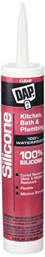 Dap 08648 9.8 Oz. 100% Silicone Kitchen and Bath Sealant, Clear
