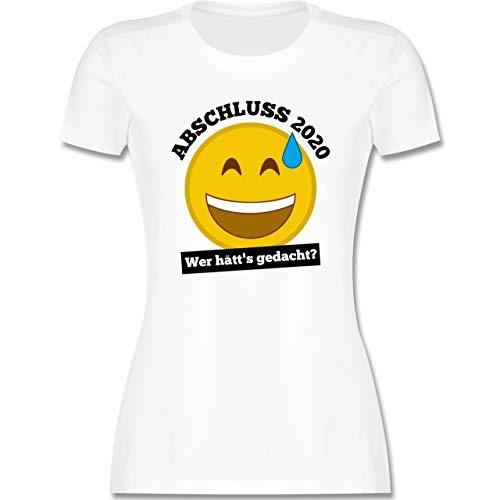 Abi & Abschluss - Emoticon - Abschluss 2020 - Wer hätt's gedacht? - L - Weiß - abschluss 2020 - L191 - Tailliertes Tshirt für Damen und Frauen T-Shirt