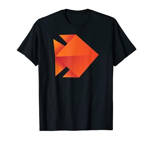 Pez de origami. Camiseta