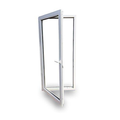 Preisvergleich Produktbild Balkontür - Kunststoff - Fenster - Tür - weiß - BxH: 110 x 210 cm / 1100 x 2100 mm - DIN links