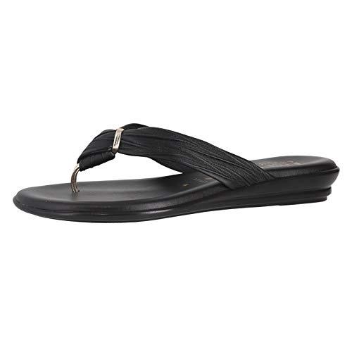 ITALIAN SHOEMAKERS Womens Aleena Criss Cross Fashion Sandals Made in Italy,Black,10