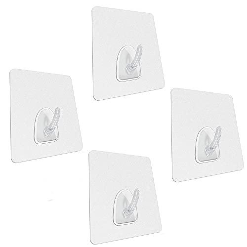 Nano-Bath Ltd 4 Stück – Nano-Technologie – haftet stärker als Saugnäpfe – unendlich neu positionierbar