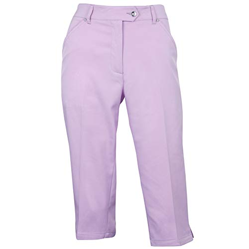 Island Green Women's Capri Pantaloni da Golf, Lavanda, 14 Extra Short Donna