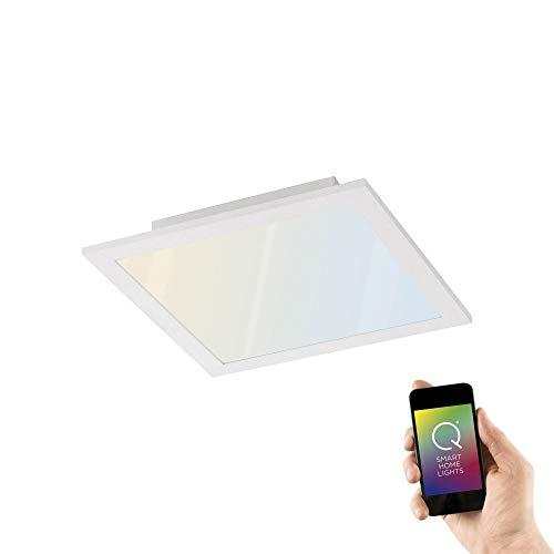 Paul Neuhaus Q-Flag, LED Panel, 30x30, Smart-Home | dimmbare Decken-Lampe mit steuerbarer Farbtemperatur, warmweiss - kaltweiss | Decken-Leuchte Alexa & Google Home kompatibel