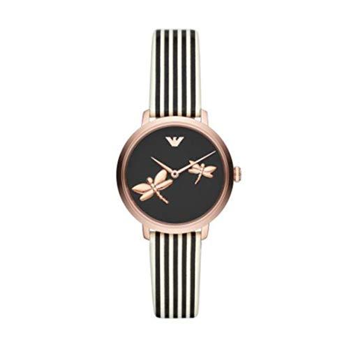 Emporio Armani AR11232 - Reloj de acero inoxidable con dos manos en tono oro rosa para mujer
