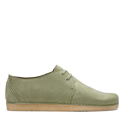 Clarks ORIGINALS Ashton, Scarpe Stringate Derby Donna, Verde Cactus Green, 39 EU