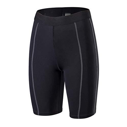 MOTOCO Sporthose Für Damen Sportstrumpfhose Strumpfhose Sweatpants Yogahose Größe 32-40(2XL(40),Schwarz)