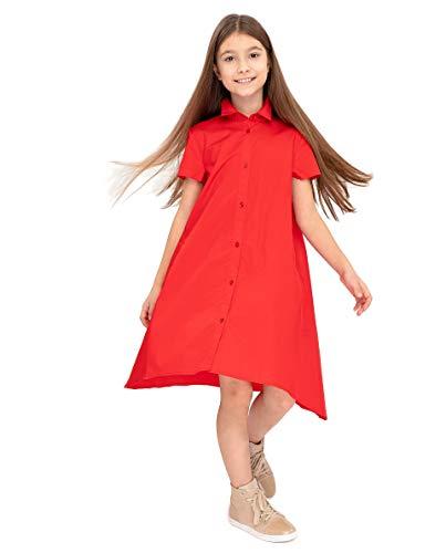 GULLIVER Vestido para Niña Casual de Manga Corta Algodón de 9-14 Años