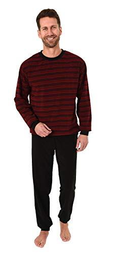 Herren Frottee Pyjama Schlafanzug mit Bündchen, auch in Übergrößen - 281 101 93 702, Größe2:56, Farbe:rot
