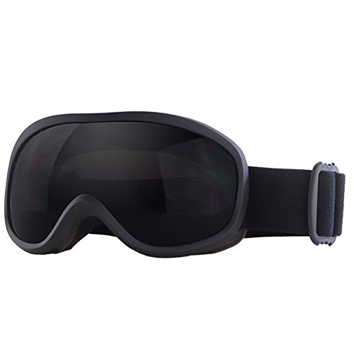 Flantor Snow Ski Goggles, Snowboard Goggles for Outdoor Helmet Compatible Snow Goggles,Outdoor Sports Tactical Glasses with Non-Slip Strap for Men and Women - 100% UV Protection (Black)