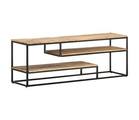 Wakects Mueble bajo para TV, mueble para salón, de madera de mango, estilo industrial, mueble de TV con estantes, 130 x 30 x 45 cm