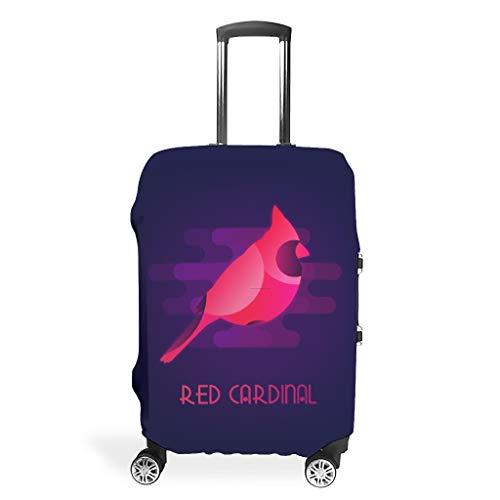 O5KFD & 8 Rode Spatz reiskoffer Cover Protector - Rode Vogel duurzame kofferhoes meerdere maten pak beschermende koffer