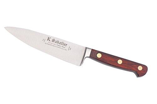 K SABATIER - Cuisine Large 16 Cm Gamme Auvergne - Acier Inoxydable - Manche Bois - 100% Forge - Entièrement Fabrique en France