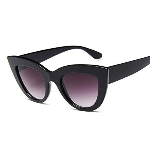 N\C Gafas de sol de moda de ojo de gato de las mujeres vintage de lujo negro gafas de sol forfemale u v400 gafas sombras