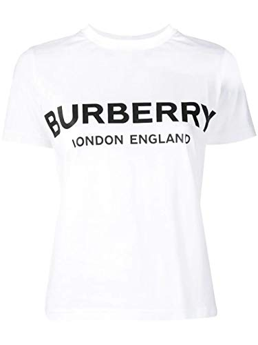 BURBERRY Luxury Fashion Damen 8008894 Weiss Baumwolle T-Shirt | Frühling Sommer 20
