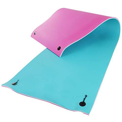 HOMCOM 16.5' x 5' Foam Floating Water Pad Swim Mat - Blue/White/Red