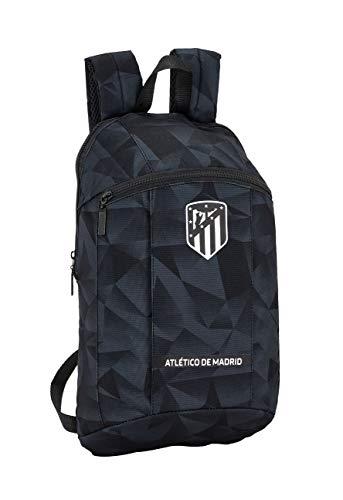 Safta -Atlético de Madrid Black Oficial Mini Mochila Uso Diario 220x100x390mm