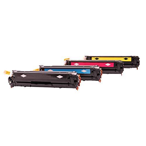 Set 4X alternativ Toner für Canon 054 054H für I-Sensys LBP-620 Series LBP-621CW LBP-623CDW LBP-640C LBP-640 MF-640C MF-640 Series MF-641CN MF-641CW MF-642CDW MF-643CDW MF-644CDW MF-645CX von ABC