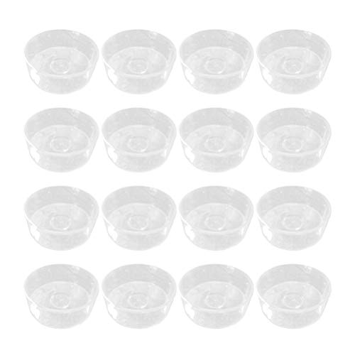 SUPVOX 100 PCS Empty Clear Plastic Candle Containers Mold for Candle Making - Circle