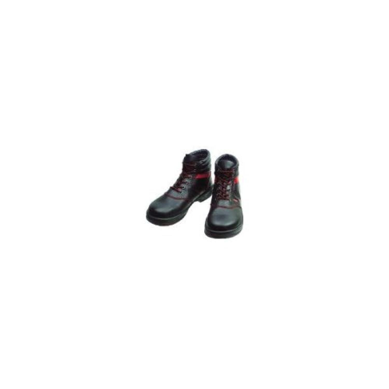 安全靴 編上靴 SL22-R黒/赤 SL22R24.5_3043 24.5cm