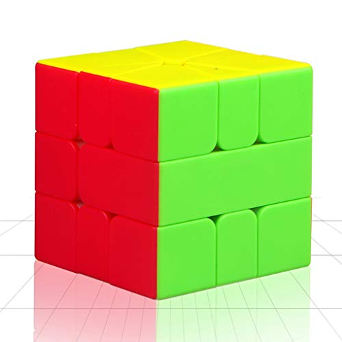 TOYESS Square One Cube Stickerless ,Professional Puzzle Cube, Brain Teasers Toys for Kids & Adults