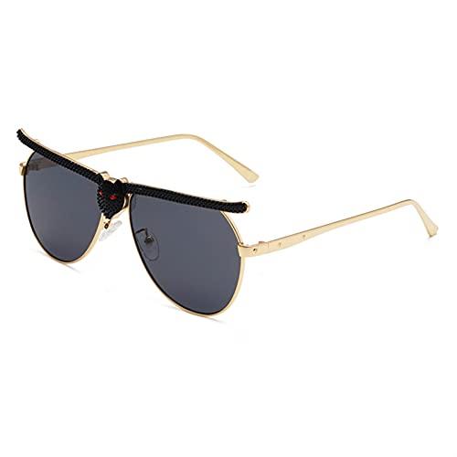SLAKF Gafas duraderas Mujeres Hombre Gafas de Sol Moda Gafas de Gato Marco de Sol Gafas de Sol Moda Gafas de Moda (Lenses Color : Black)