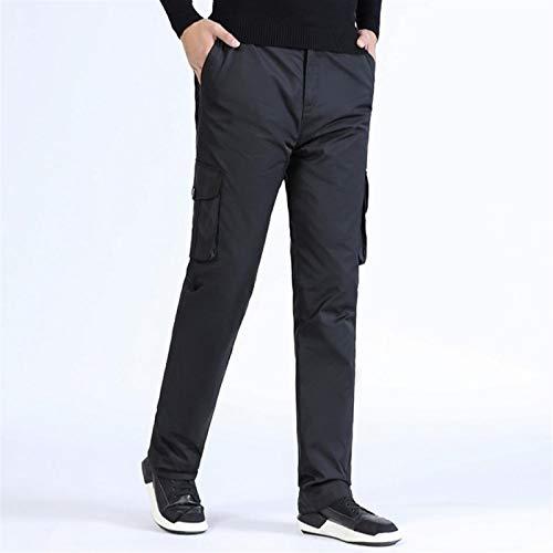 Pantalones bajos de los hombres Invierno grueso Cálido y frío Pantalones deportivos al aire libre y pantalones de ocio Calor térmico Caliente al aire libre a prueba de viento Térmico térmico Hot trans