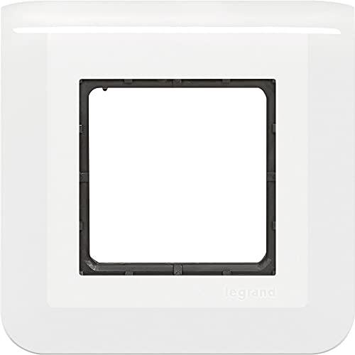 Legrand 538325 Piastra di Finitura 2 Moduli, Supporto a Vite – Gamma Materiale Rigido – Garantisce Un Isolamento Elettrico Sicuro – Attacco Montaggio a Incasso dei meccanismi Mosaic