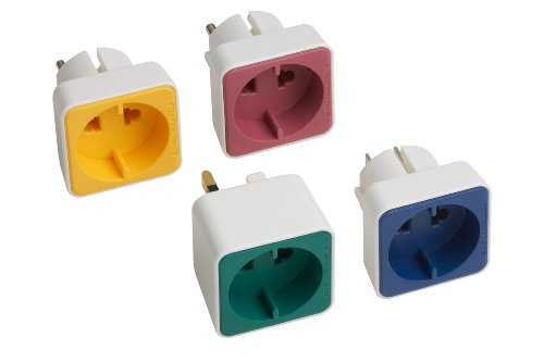 Meister Traveladapter-Set für Euro-/Konturenstecker, 4-teilig, 7423670