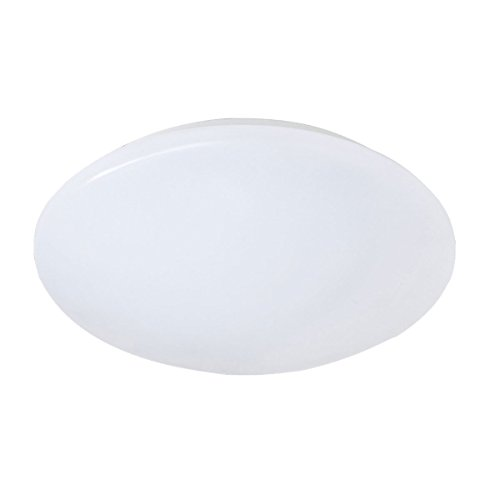 Reality Leuchten LED Deckenleuchte, 12 W, Kunstoff, Durchmesser 27 cm, weiß R62601201 [Energieklasse A+]