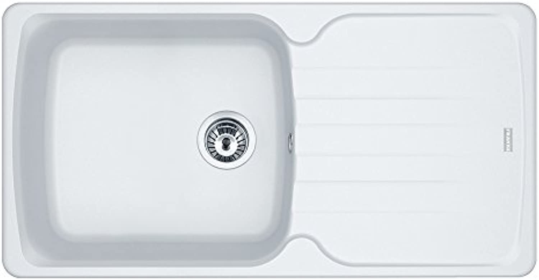 Franke AZG 611-97 XL - 114.0499.211 Küchenspüle Antea, Polarwei, 4 Stück