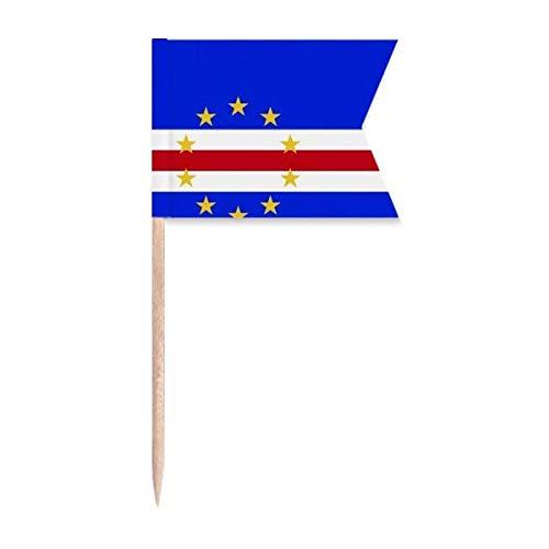 Beauty Gift Kap Verde Nationale Flagge Afrika Land Markierung für die Kennzeichnung von Zahnstocher-Flaggen