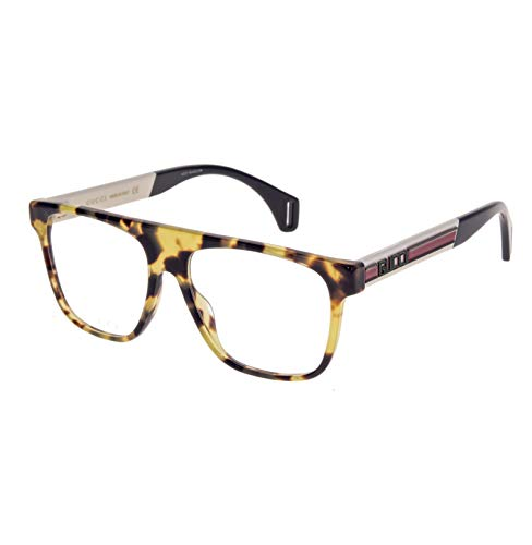 Gucci Gafas anteojos GG0465O 004 habana marco óptica de plástico de tamaño de 55 mm gafas de sol hombre