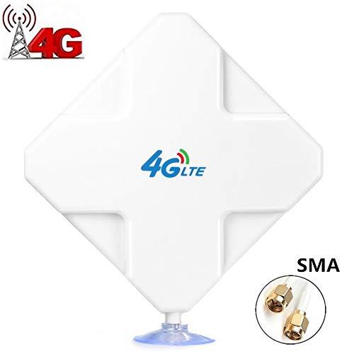 SMA 4G Hochleistungs LTE Antenne, 35dBi WiFi Signal Booster Dual Mimo Netzwerk Ethernet Verstärker, Passend für Telekom Speedport LTE & LTE II, Vodafone B1000 & B2000, EasyBox 904 etc (SMA)