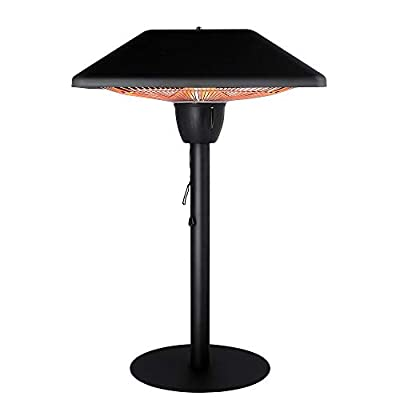Star Patio Electric Patio Heater, Tabletop Heater, Infrared Heaters, Electric Outdoor Heater, Outdoor Space Heater, Portable Heater with Hammered Bronze Finished, 1500W, STP1566-BT